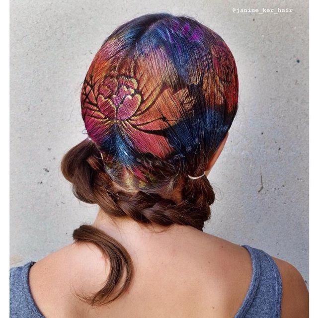 hair stencil look