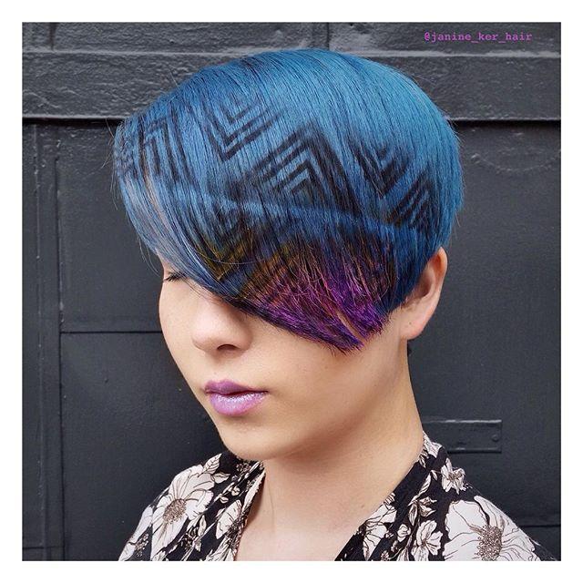 hair stencil looks