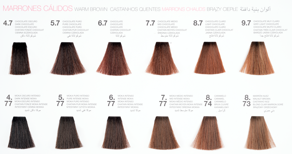 guia de color de cabello 2017 de glossco professional