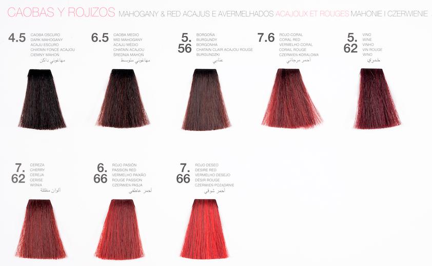 guia de color otoño de glossco professional cabello