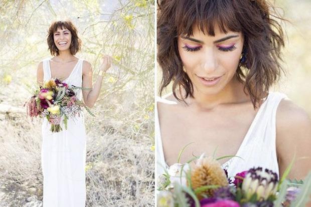 peinados de novia 2018 corte carré